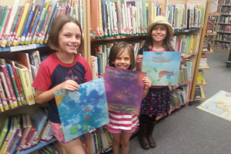 Painting day at the Summer Reading Program